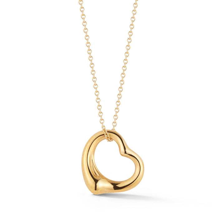 Estate 18 k Yellow Gold Tiffany & CO. Heart Pendant