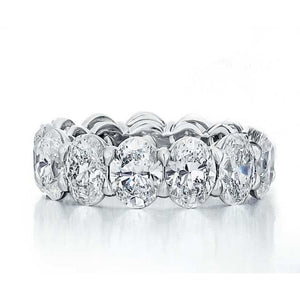 Oval Cut Diamond Eternity Ring - 9.87ctw E-G/SI
