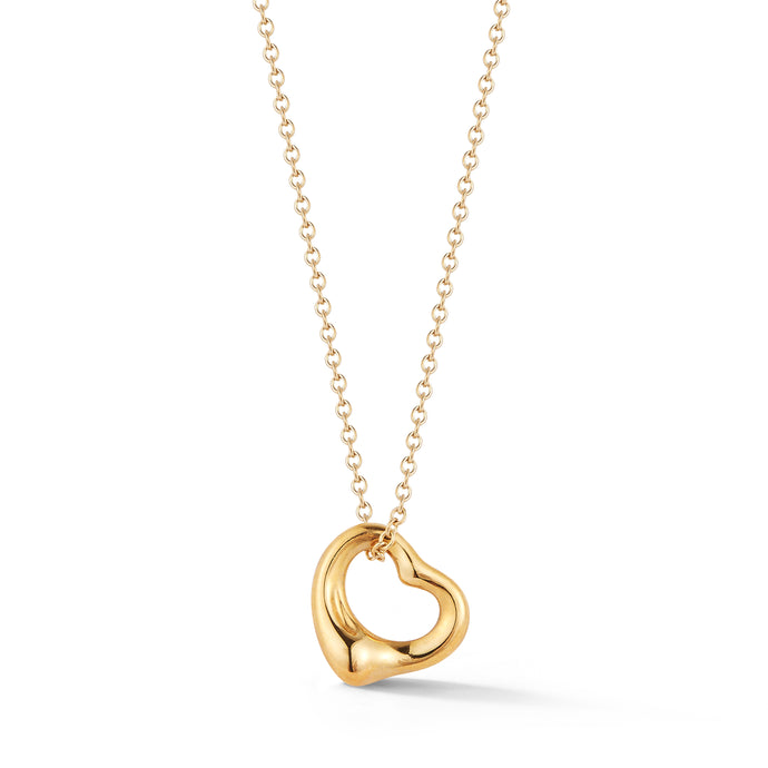 Estate 18k Yellow Gold Tiffany & CO. Heart Pendant