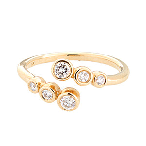14k Yellow Gold Bezel Set Diamond Ring