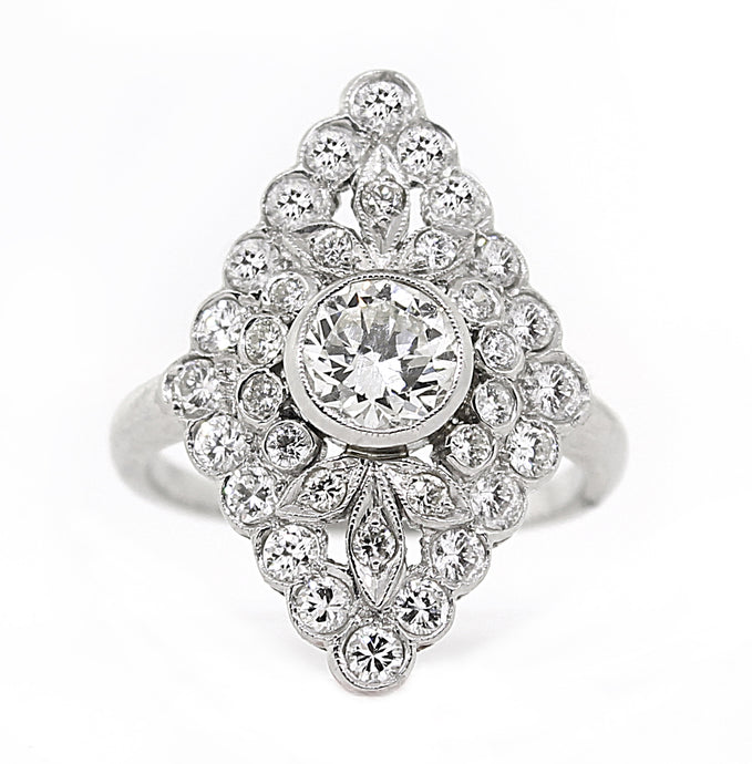 Estate Platinum Diamond Ring- 1.72ctw