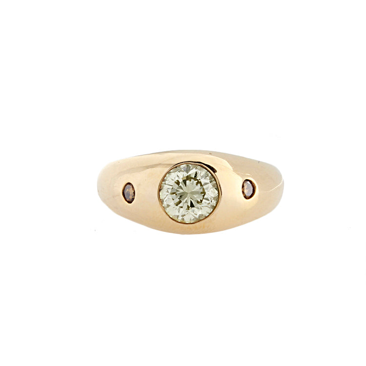 Estate 14k Yellow Gold Diamond Ring