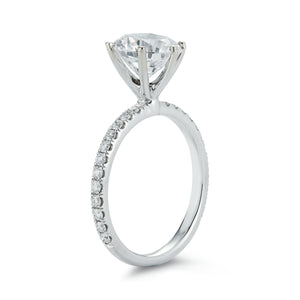 Signature Pave 6 Prong Diamond Engagement Ring