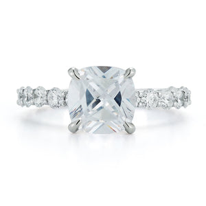 "Signature ""VICTORIA"" Prong Diamond Engagement Ring"