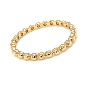 14k yellow gold bubble ball band