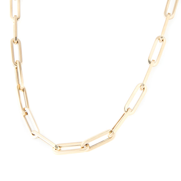 14k yellow gold link chain necklace 18