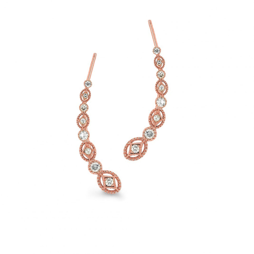 Sara Weinstock 18k Rose Gold Ear Wire