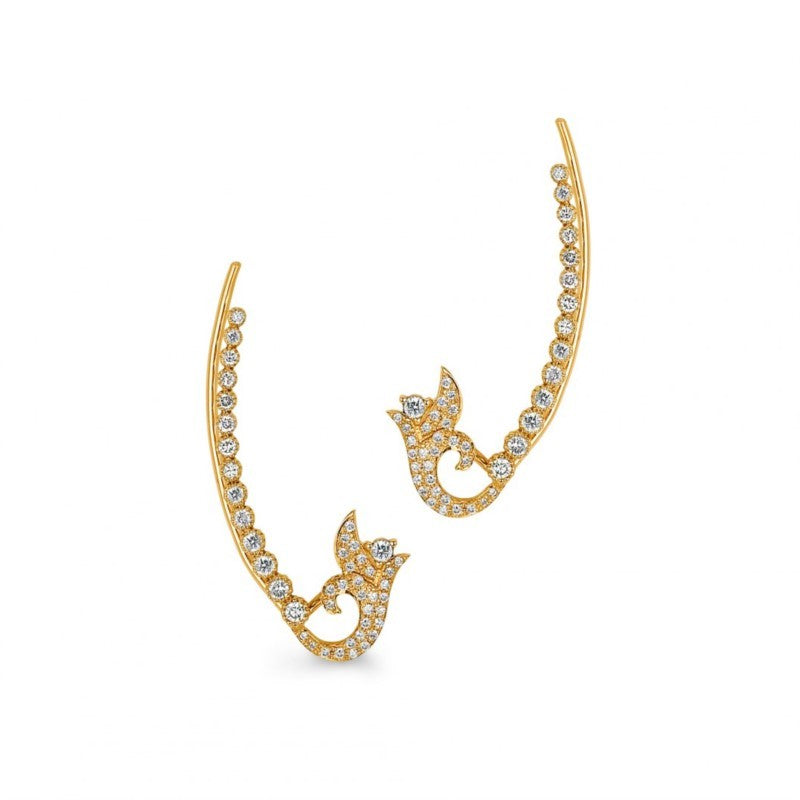 Sara Weinstock 18k Yellow Gold Diamond Ear Wire