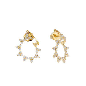 Jordan Scott 14k Yellow Gold Diamond Earrings