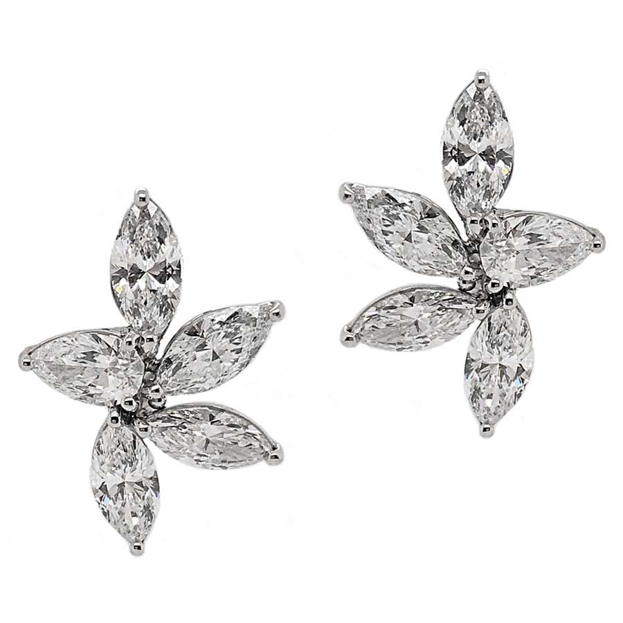 Platinum Marquise Diamond Earrings