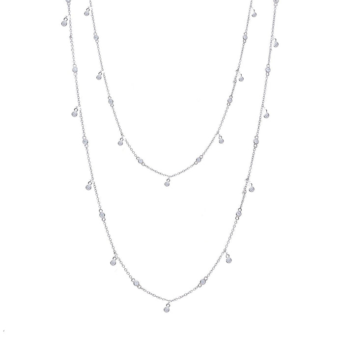 18k White Gold Diamond by the Yard Necklace-34