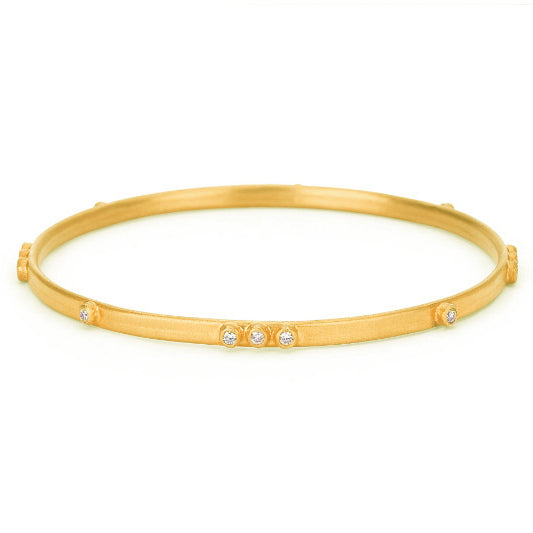 Sara Weinstock 18k Yellow Gold Diamond Bangle