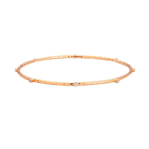 Sara Weinstock Rose Gold Diamond Bangle