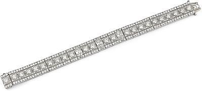 Estate Platinum Diamond Bracelet- 16.00ctw