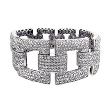 Load image into Gallery viewer, Estate 18k White Gold Pave Diamond Bracelet