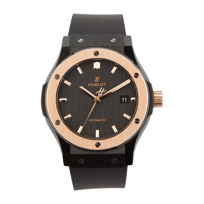 42mm Ceramic and Rose Gold Hublot Fusion Automatic