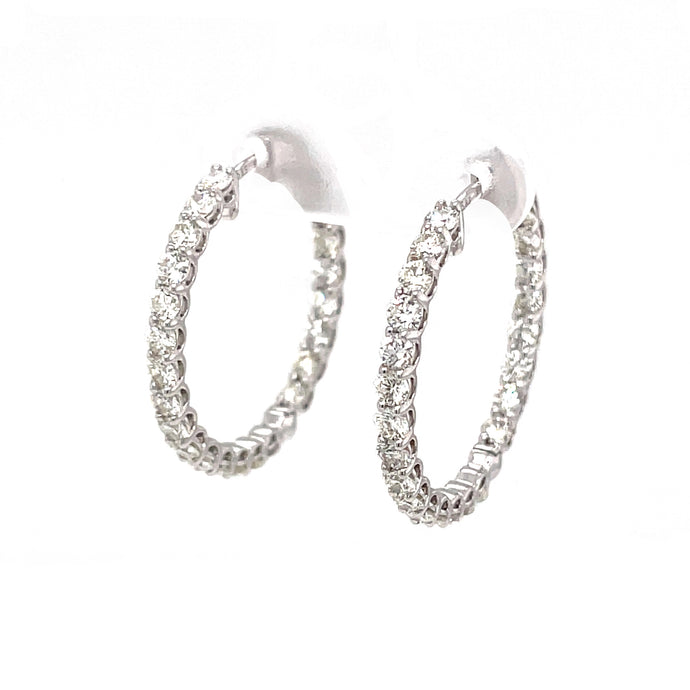 2.40ct 14k white gold diamond hoops