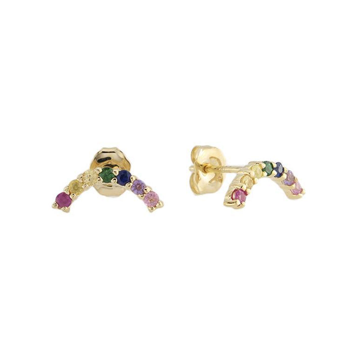 Jordan Scott 14k Yellow Gold Rainbow Earrings