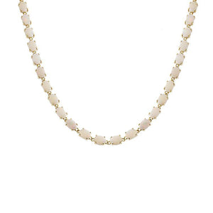 Estate 14k Yellow Gold Opal Necklace
