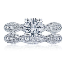 Load image into Gallery viewer, Tacori Criss-Cross Channel-Set & Pave Diamond Engagement Ring