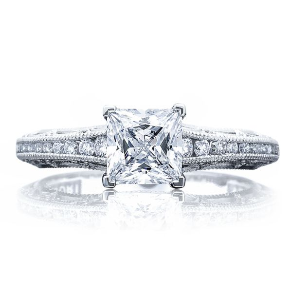 Tacori Channel & Pave Diamond Engagement Ring