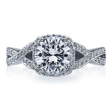 Load image into Gallery viewer, Tacori Engagement Ring with Pave-Set Diamonds
