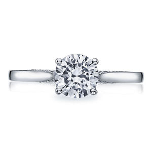 Tacori Solitaire Engagement Ring w/ Pave Diamond Accents