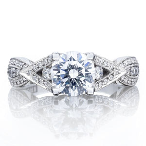 Tacori Twist Pave Diamond Engagement Ring