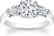 Load image into Gallery viewer, 3-Stone Pear Shape Diamond Engagement Ring