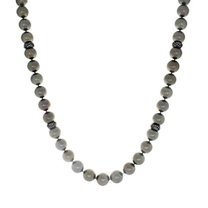 "32"" Tahitian Pearl & Diamond Rondell Necklace"