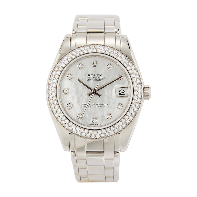 Pre-Owned 18K White Gold Rolex 34mm Pearlmaster Model 81339