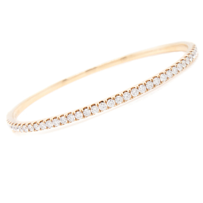 18k Yellow Gold 1.81ct Diamond Bangle