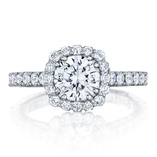 Tacori Blooming Cushion Halo Diamond Engagement Ring