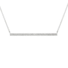 Load image into Gallery viewer, 14k White Gold Diamond Bar Necklace