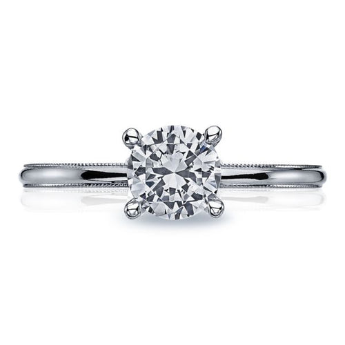 Tacori Solitaire Engagement Ring w/ Milgrain Edge