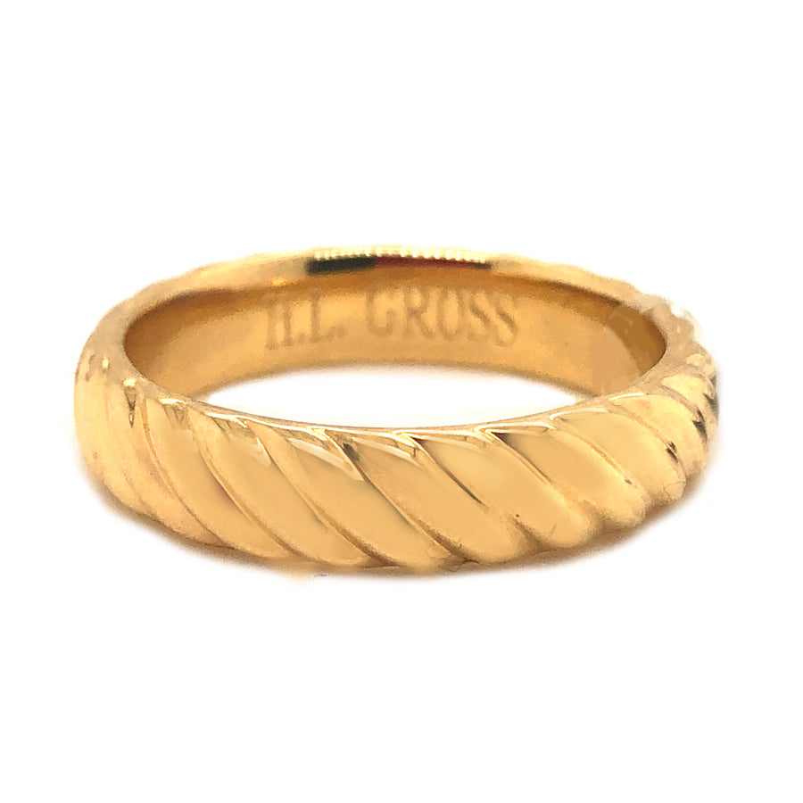 Men's 18k Yellow Gold Braided Wedding Band