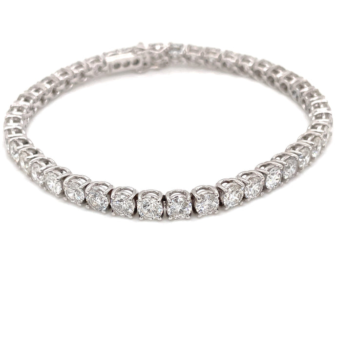 11.96ct 18k White Gold Diamond Tennis Bracelet
