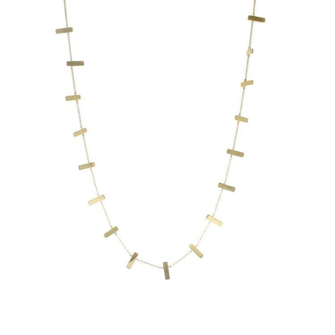 Jordan Scott 14k Yellow Gold Bar Necklace