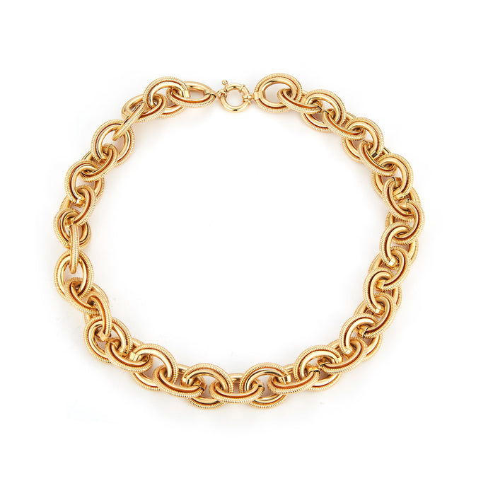 Estate 14k Yellow Gold Chunky Link Necklace