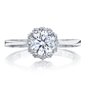 Tacori 6 Prong Halo Diamond Engagement Ring
