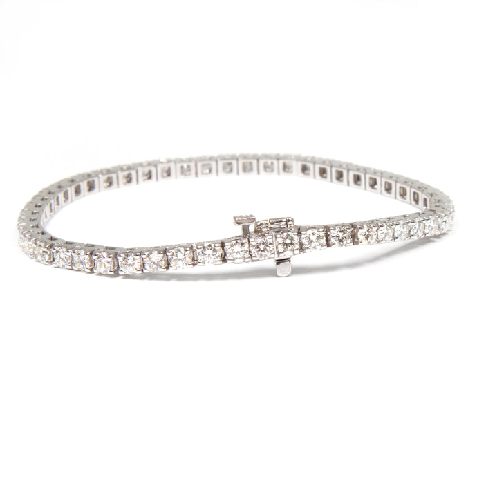 5ct 14k white gold diamond tennis bracelet