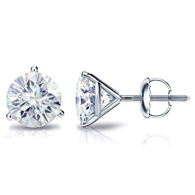 .75CTW Round Brilliant Diamond Stud Earrings - J/I1