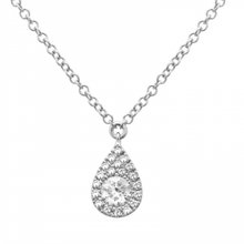 Load image into Gallery viewer, 14k White Gold Diamond Pendant