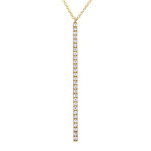 Load image into Gallery viewer, 14k White Gold Diamond Stick Pendant