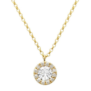 14k White Gold Diamond Cluster Pendant