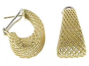 Roberto Coin 18K Yellow Gold Woven Tapered Hoop Earrings