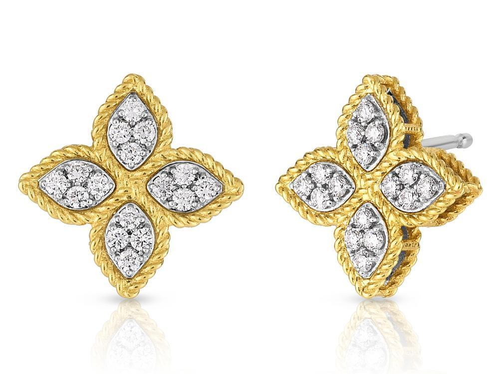 Roberto Coin Medium Stud Earring with Diamonds