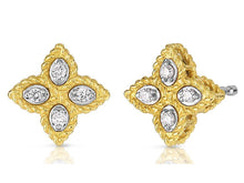 Load image into Gallery viewer, Roberto Coin 18k Yellow Gold Diamond Stud Earrings