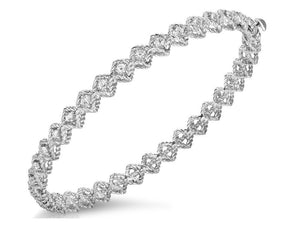 Roberto Coin 18k White Single Round Diamond Bangle