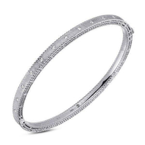 Roberto Coin 18k White Gold Diamond Princess Bangle